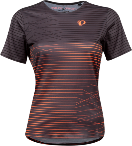 Pearl Izumi Women's Launch Top Color: Phantom/Fiery Crl Frequency