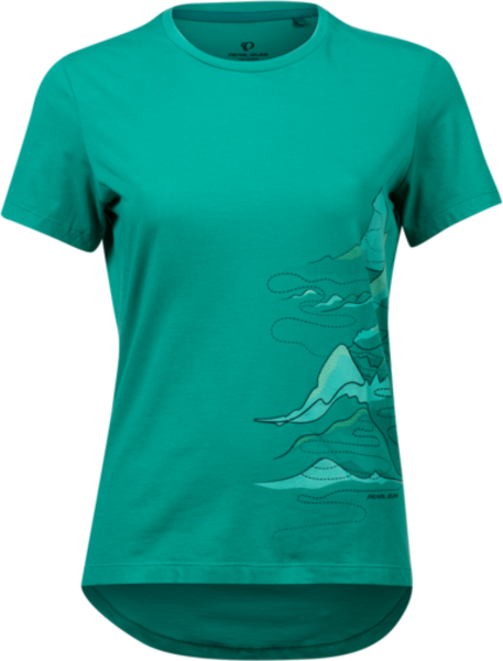 Pearl Izumi Women's Mesa T-Shirt Color: Malachite Mountain Route