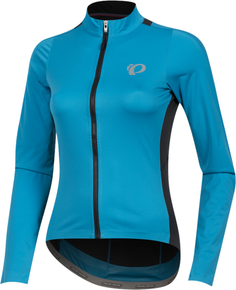 Pearl Izumi Women's P.R.O. Pursuit Long Sleeve Wind Jersey Color: Atomic Blue/Black