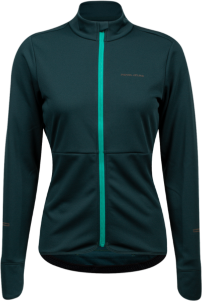 Pearl Izumi Women's Quest Thermal Jersey Color: Pine/Malachite