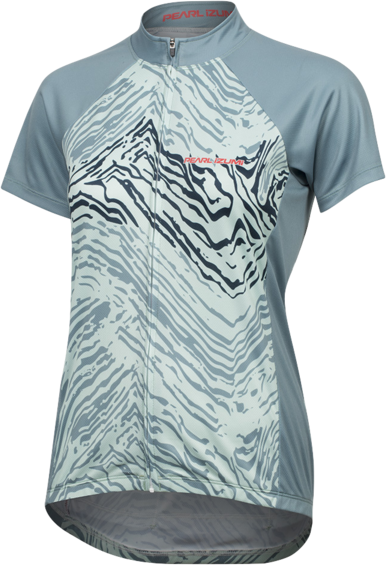 Pearl Izumi Women's SELECT Escape Short Sleeve Graphic Jersey Color: Arctic/Mist Green Phyllite