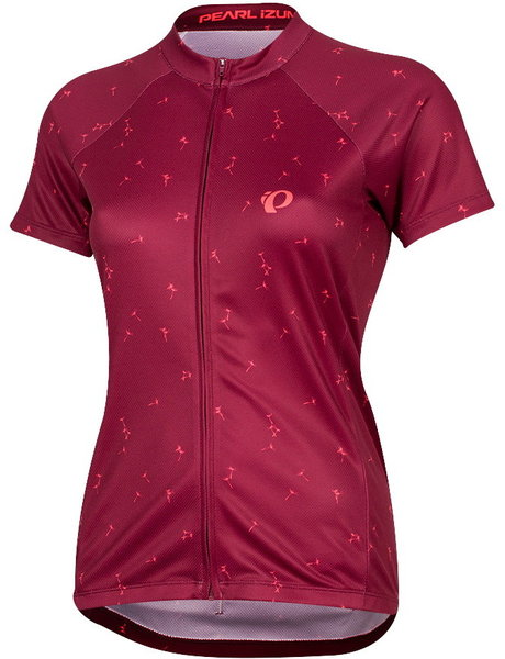 Pearl Izumi Women's SELECT Escape Short Sleeve Graphic Jersey Color: Beet Red Wish