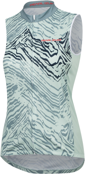 Pearl Izumi Women's SELECT Escape Sleeveless Graphic Jersey Color: Arctic/Mist Green Phyllite