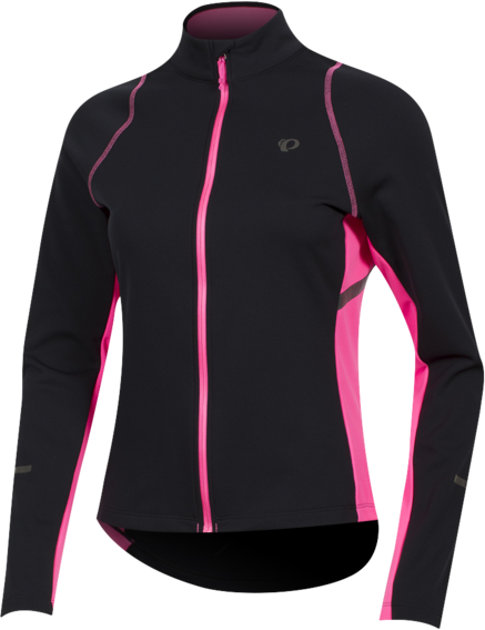 Pearl Izumi Women's SELECT Escape Thermal Jersey Color: Black/Screaming Pink