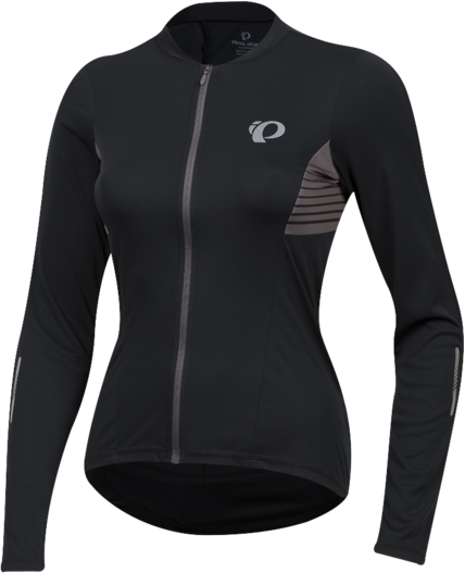 Pearl Izumi Women's SELECT Pursuit Long Sleeve Jersey Color: Black Diffuse