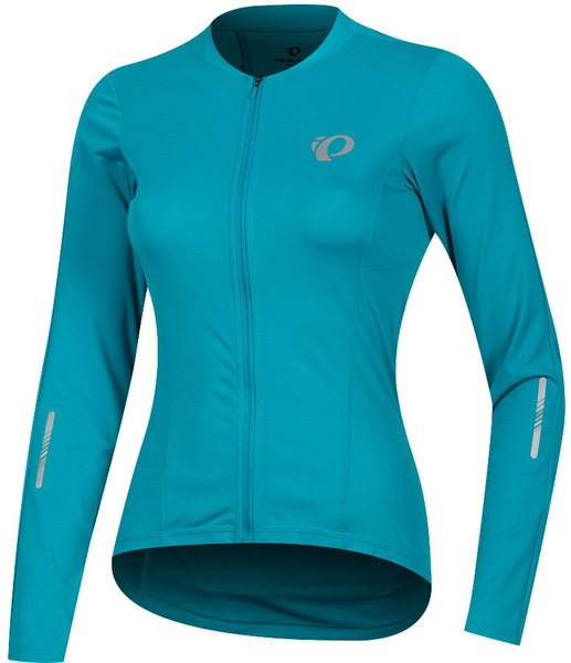 Pearl Izumi Women's SELECT Pursuit Long Sleeve Jersey Color: Breeze/Teal