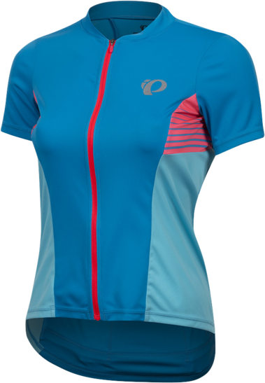 Pearl Izumi Women's SELECT Pursuit Short Sleeve Jersey Color: Atomic Blue/Aqua Blue Diffuse