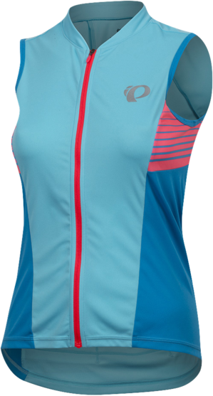 Pearl Izumi Women's SELECT Pursuit Sleeveless Jersey Color: Aqua Blue/Atomic Blue Diffuse