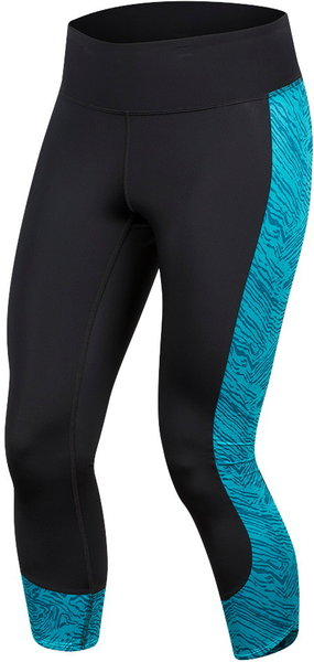 Pearl Izumi Women's Studio 3/4 Tights Color: Black/Breeze Phyllite
