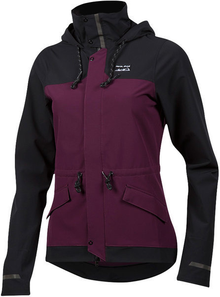 Pearl Izumi Women's Versa Barrier Jacket Color: Black/Potent Purple