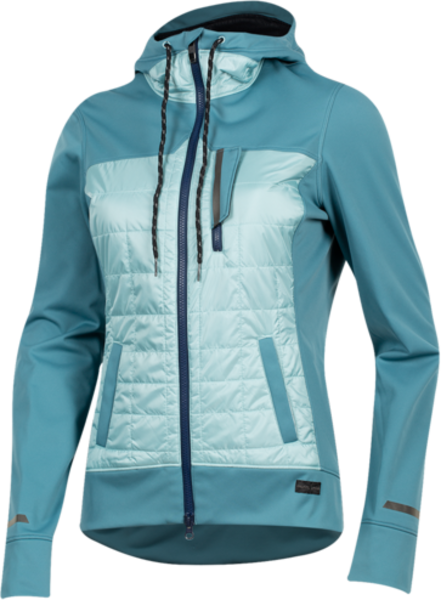 Pearl Izumi Women's Versa Quilted Hoodie Color: Hydro/Aquifer