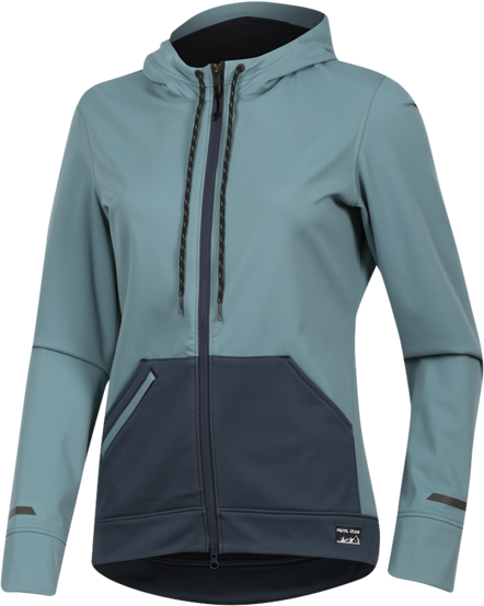 Pearl Izumi Women's Versa Softshell Hoodie Color: Arctic/Midnight Navy