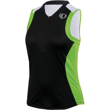 Pearl Izumi Women's Select SL Tri Jersey Color: Black/Green Flash