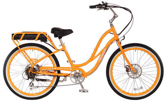 Pedego Step-Thru Comfort Cruiser Color: Orange