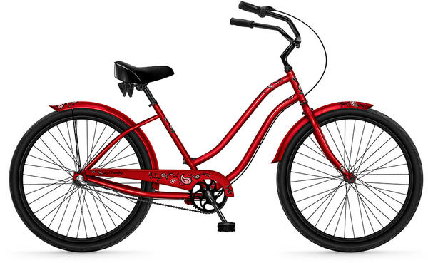 Phat Cycles Paisley 26-inch (3-Speed) - Women's