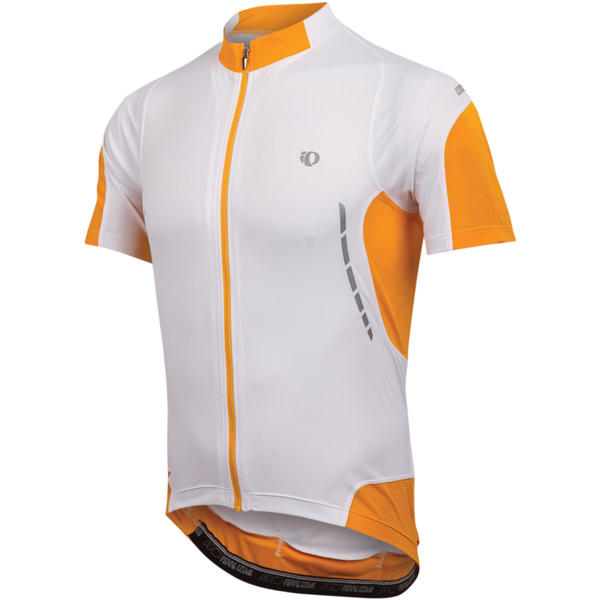 Pearl Izumi Elite Jersey Color: White/Safety Orange