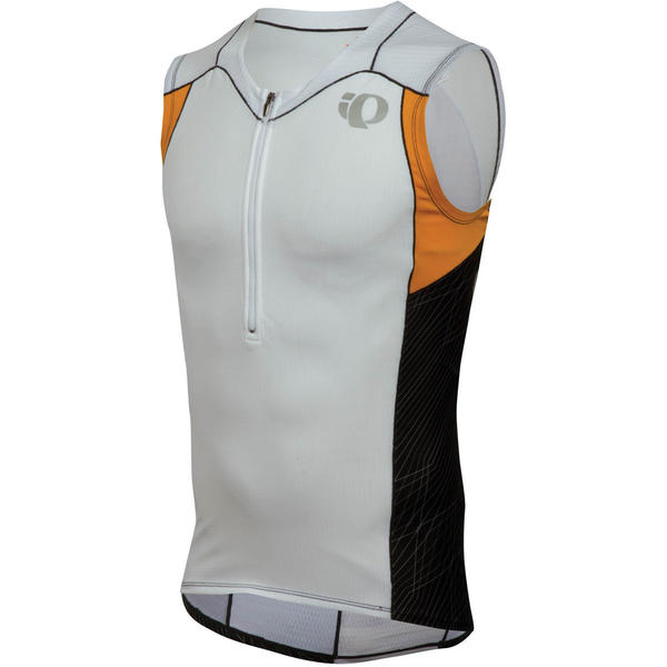 Pearl Izumi Elite Tri SL Jersey Color: White/Safety Orange