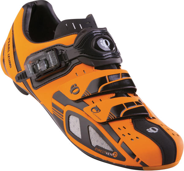 Pearl Izumi P.R.O. Leader Shoes Color: Safety Orange/Black