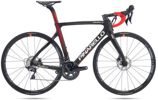 Pinarello Gan Disk Color: Black Matte/Red Matte