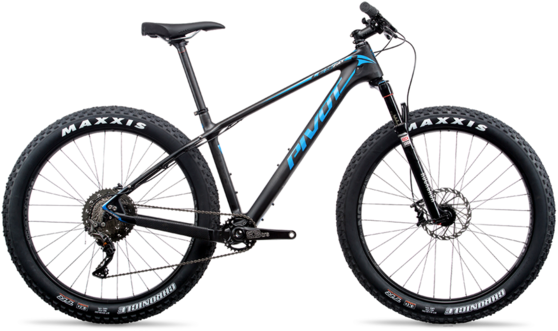 Pivot Cycles LES Fat PRO XT/XTR 1x 27.5+ Color: Natural Carbon/Blue