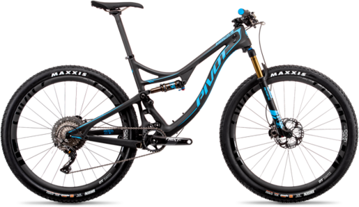 Pivot Cycles Mach 4 Carbon TEAM XTR 1x Race Build Color: Blue
