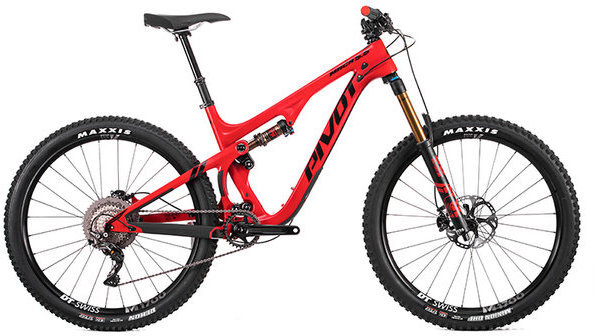 Pivot Cycles Mach 5.5 Carbon PRO XT/XTR 1x Color: Red