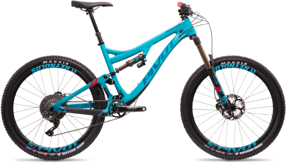 Pivot Cycles Mach 6 Carbon TEAM XTR 1x Color: Aqua Blue