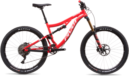Pivot Cycles Mach 6 Aluminum PRO XT/XTR 1x Color: Red