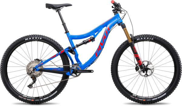 Pivot Cycles Switchblade Aluminum 27.5+ Race XT Components in image may differ from actual product.