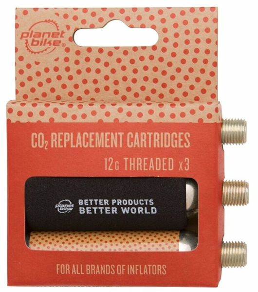 Planet Bike 12g CO2 Replacement Cartridges - Threaded