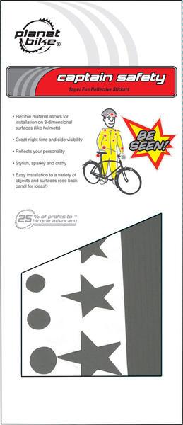 Planet Bike Captain Safety Super Fun Reflective Stickers