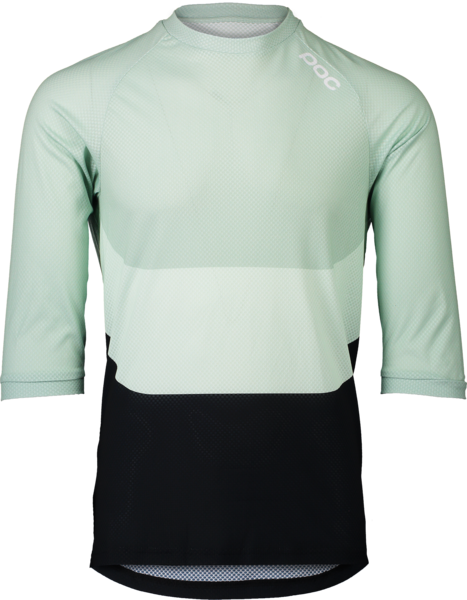 POC MTB Pure 3/4 Jersey Color: Apophyllite Multi Green