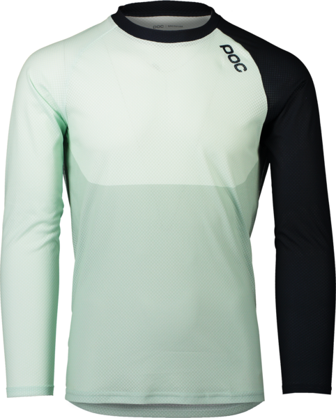POC MTB Pure LS Jersey Color: Apophyllite Green/Navy Black