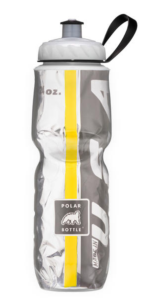 Polar Bottle Insulated Bottle (Team Colors Series) Color: Black/Yellow