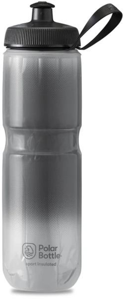 Polar Bottle Sport Insulated 24oz Fade Color: Charcoal/Silver