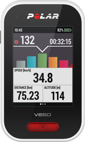 Polar V650 GPS Bike Computer with Heart Rate Sensor