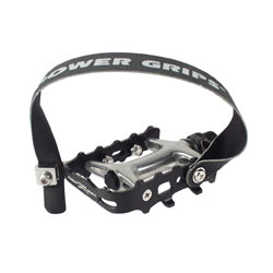 Power Grips Performance Pedals Color: Black/Silver
