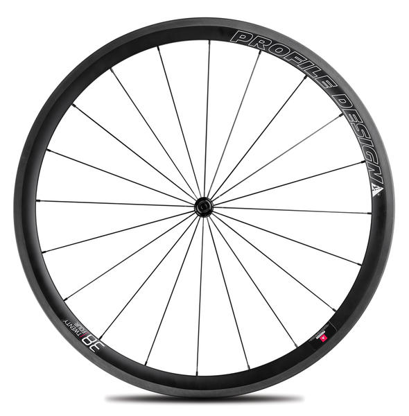 Profile Design 38/TwentyFour Full Carbon Clincher Wheels Model: Front