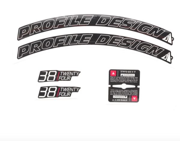 Profile Design 38/TwentyFour Series Wheel Decal