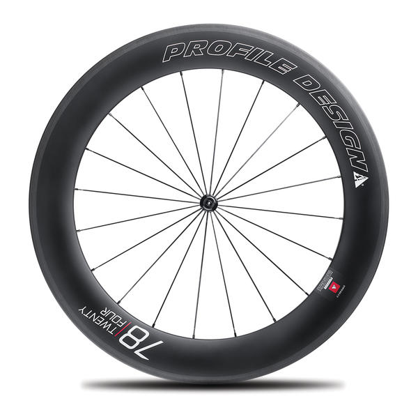 Profile Design 78/TwentyFour Full Carbon Tubular Wheels Front
