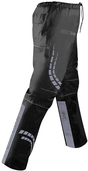 Proviz REFLECT360 Men's Waterproof Rain Pants Color: Black/Reflective Grey