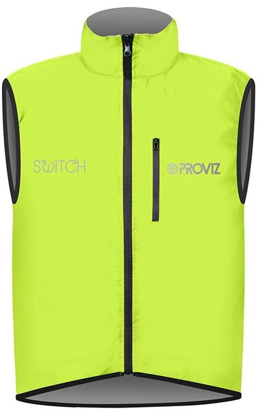 Proviz Switch Men's Cycling Vest Color: Reflective Grey/Fluorescent Yellow