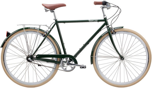 Pure Cycles Clifton 3-Speed Color: Green/Silver