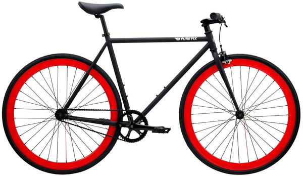 Pure Cycles Echo Color: Matte Black/Oxblood Red