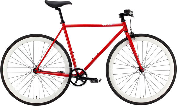Pure Cycles Charlie Color: Gloss Neon Red/White