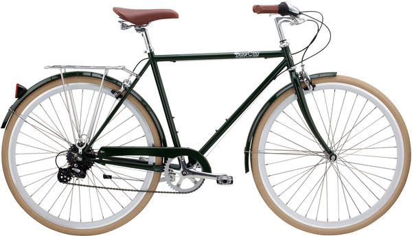 Pure Cycles Clifton 8-Speed Color: Green/Silver