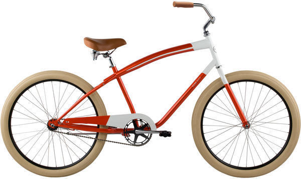 Pure Cycles Kumamoto Color: Red Orange/White