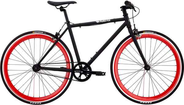 Pure Cycles Micro Echo Color: Matte Black/Red