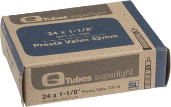 Q-Tubes Superlight Tube (24 x 1-1/8 inch, Presta Valve)