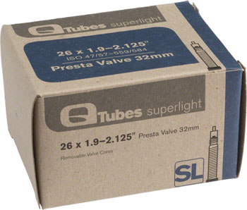 Q-Tubes Superlight Tube (26 x 1.9-2.125 inch, Presta Valve)